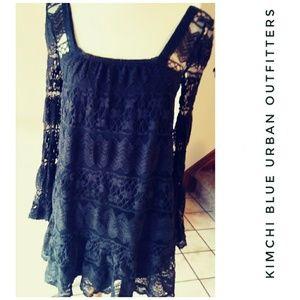 Urban Outfitters Kimchi Blue Black Crochet Dress M